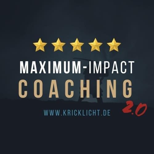 maximum impact coaching 2.0 kricklicht